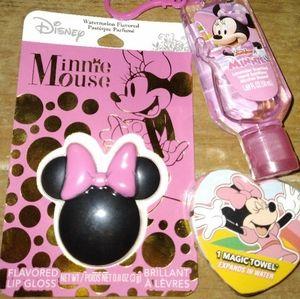 Minnie mouse lot lip balm sanitizer magic towel